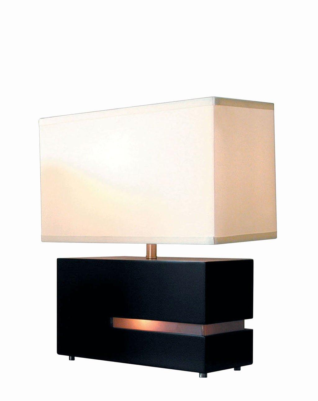 Zen Reclining Table Lamp, Brushed Nickel