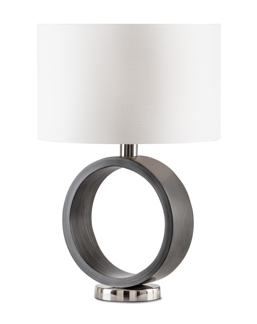 Tracey Ring Table Lamp, Brushed Nickel