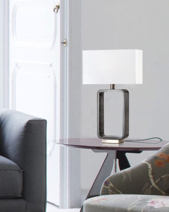 Tracey Rectangular Table Lamp Lifestyle