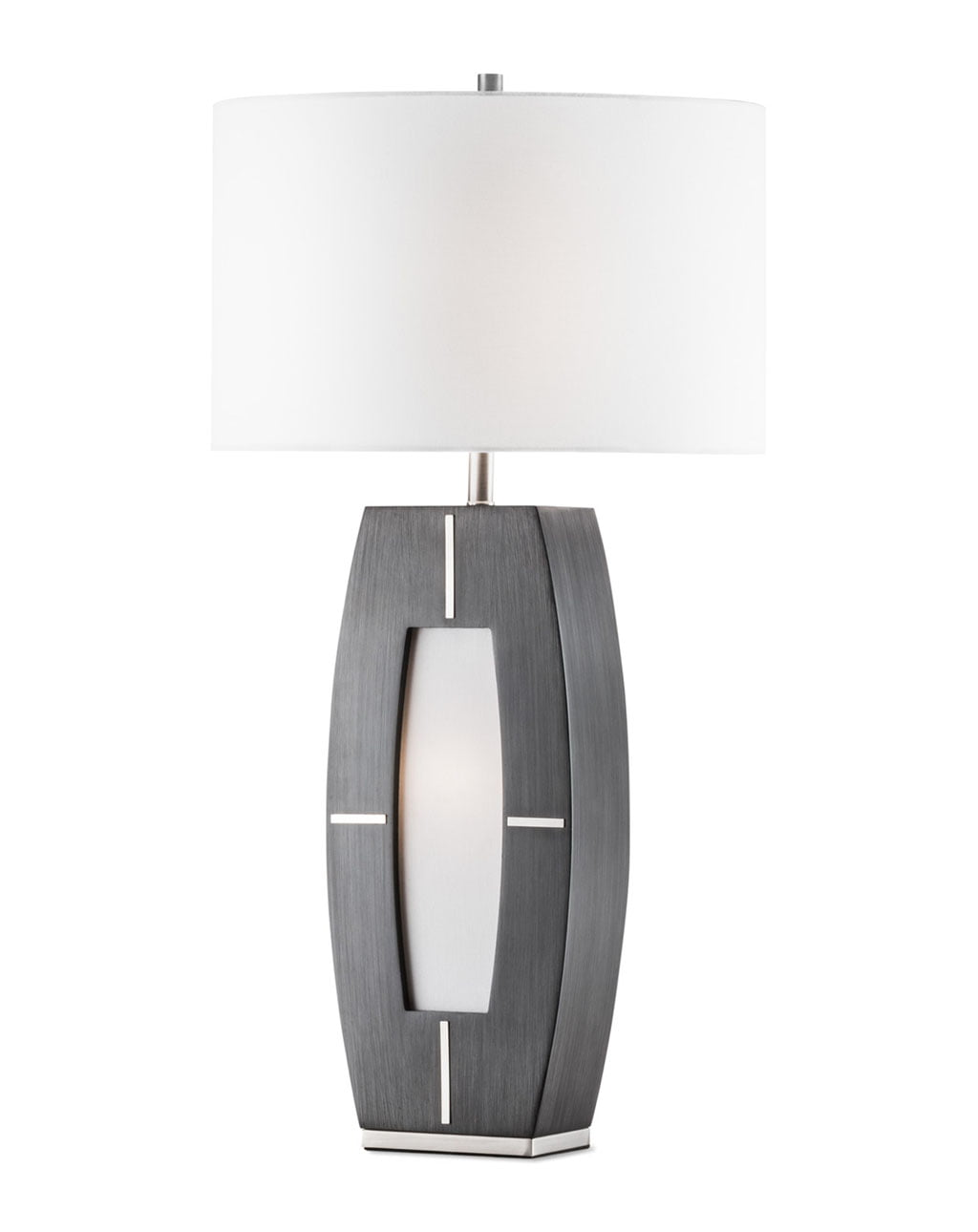 Delacy Table Lamp, Brushed Nickel