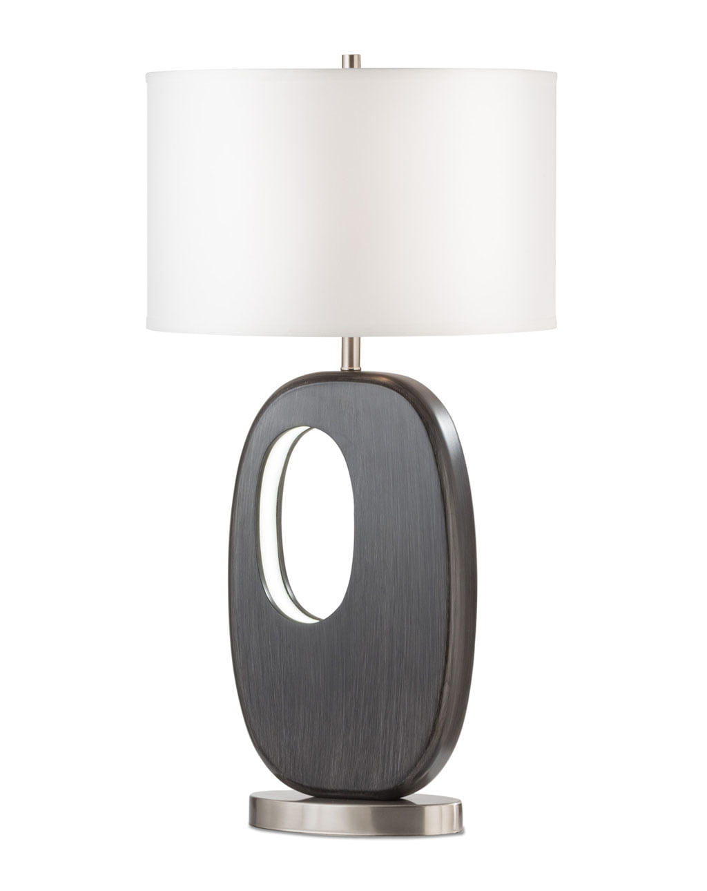 Offset Standing Table Lamp, Charcoal Gray