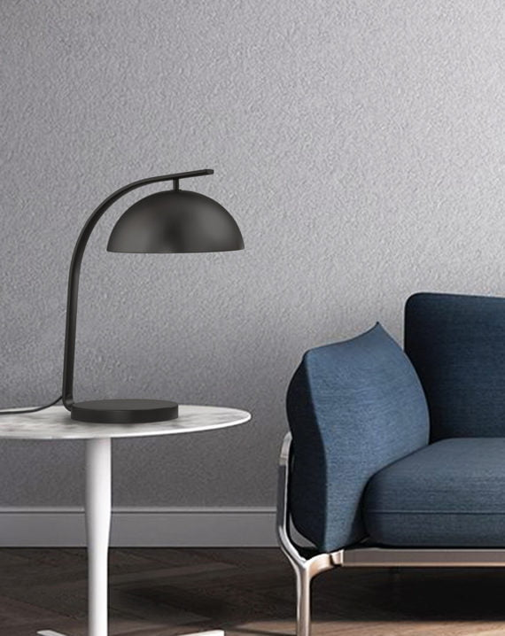 Domus Table Lamp Gunmetal Lifestyle