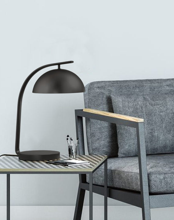 Domus Table Lamp Gunmetal Lifestyle 02
