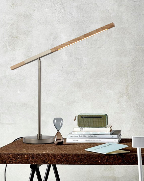 Port Table Lamp (Clear Oak) Lifestyle