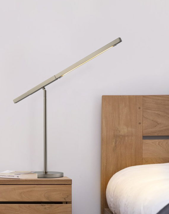 Port Table Lamp (Satin Nickel) Lifestyle