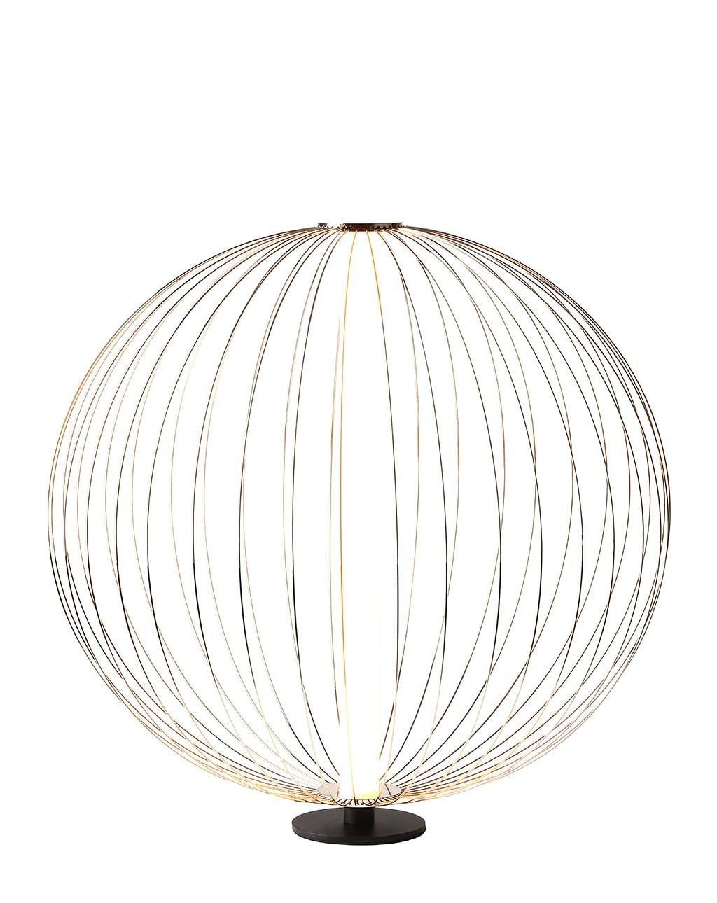 Spokes Table Lamp, Satin Nickel