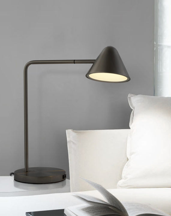 Cove Table Lamp (Matte Black) Lifestyle