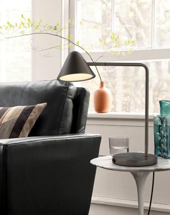 Cove Table Lamp (Matte Black) Lifestyle 02