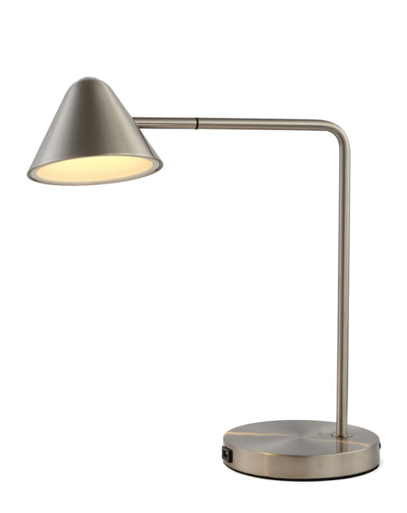 Cove Table Lamp (Satin Nickel)