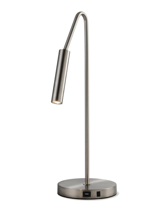 Spotlight Table Lamp (Satin Nickel)