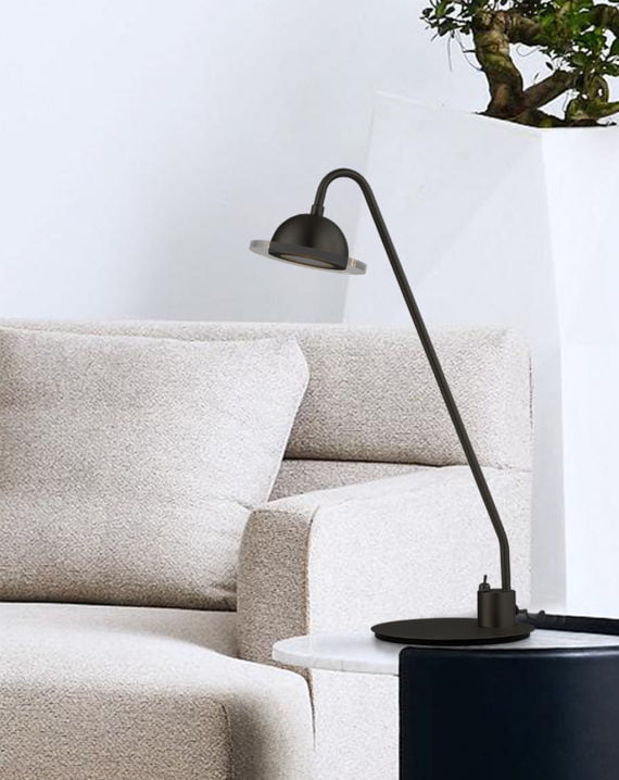 Laurel Table Lamp (Matte Black) Lifestyle