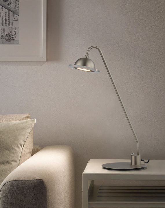 Laurel Table Lamp (Satin Nickel) Lifestyle
