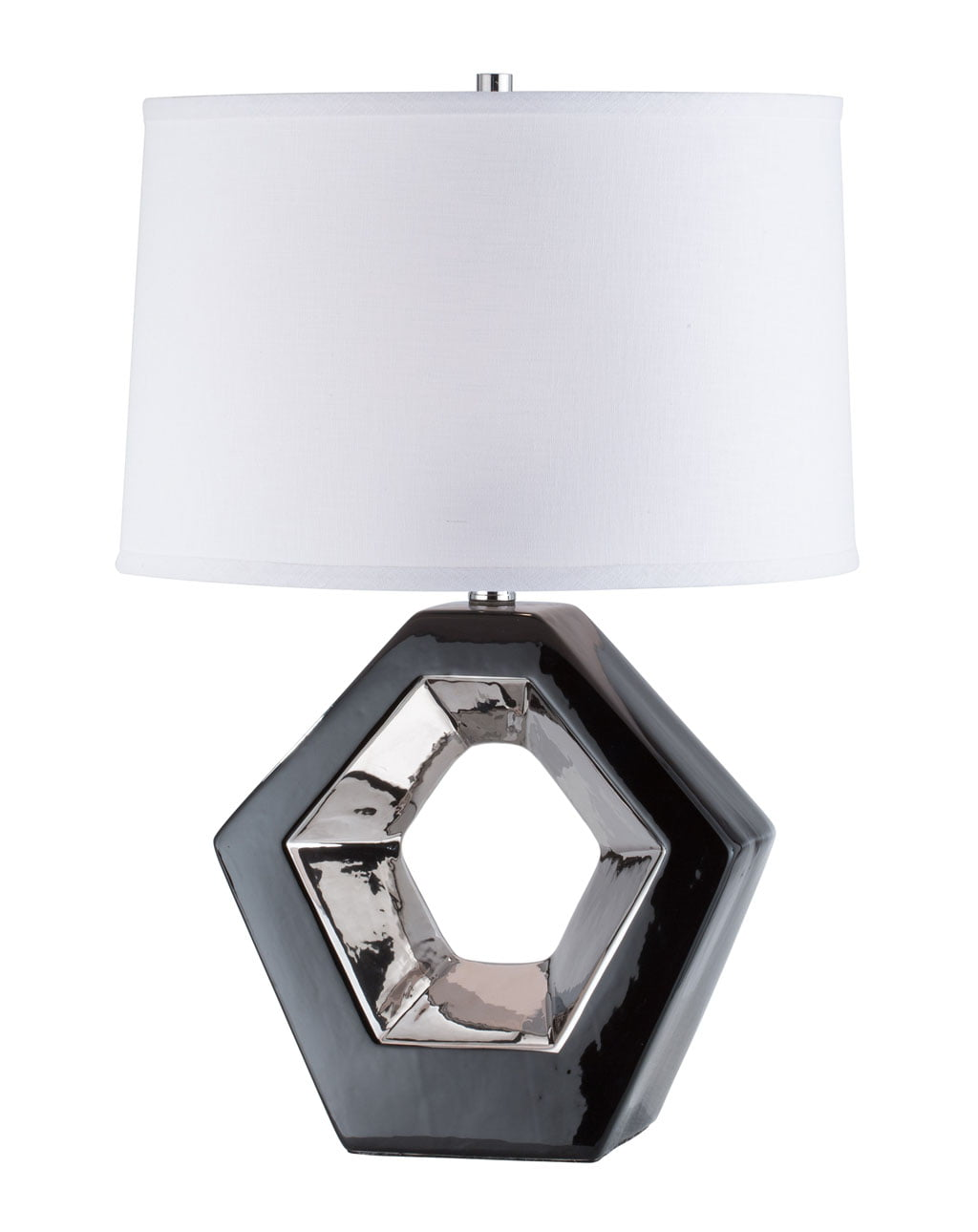 Zone Reclining Table Lamp, Gloss Black & Silver