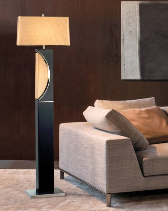 Half Moon Floor Lamp Lifestyle