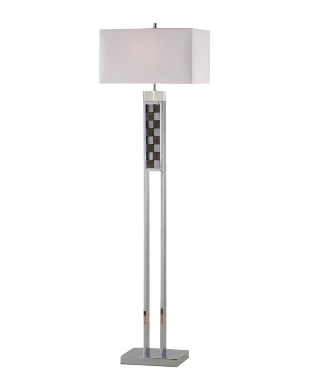 Textura Floor Lamp, Charcoal & Chrome