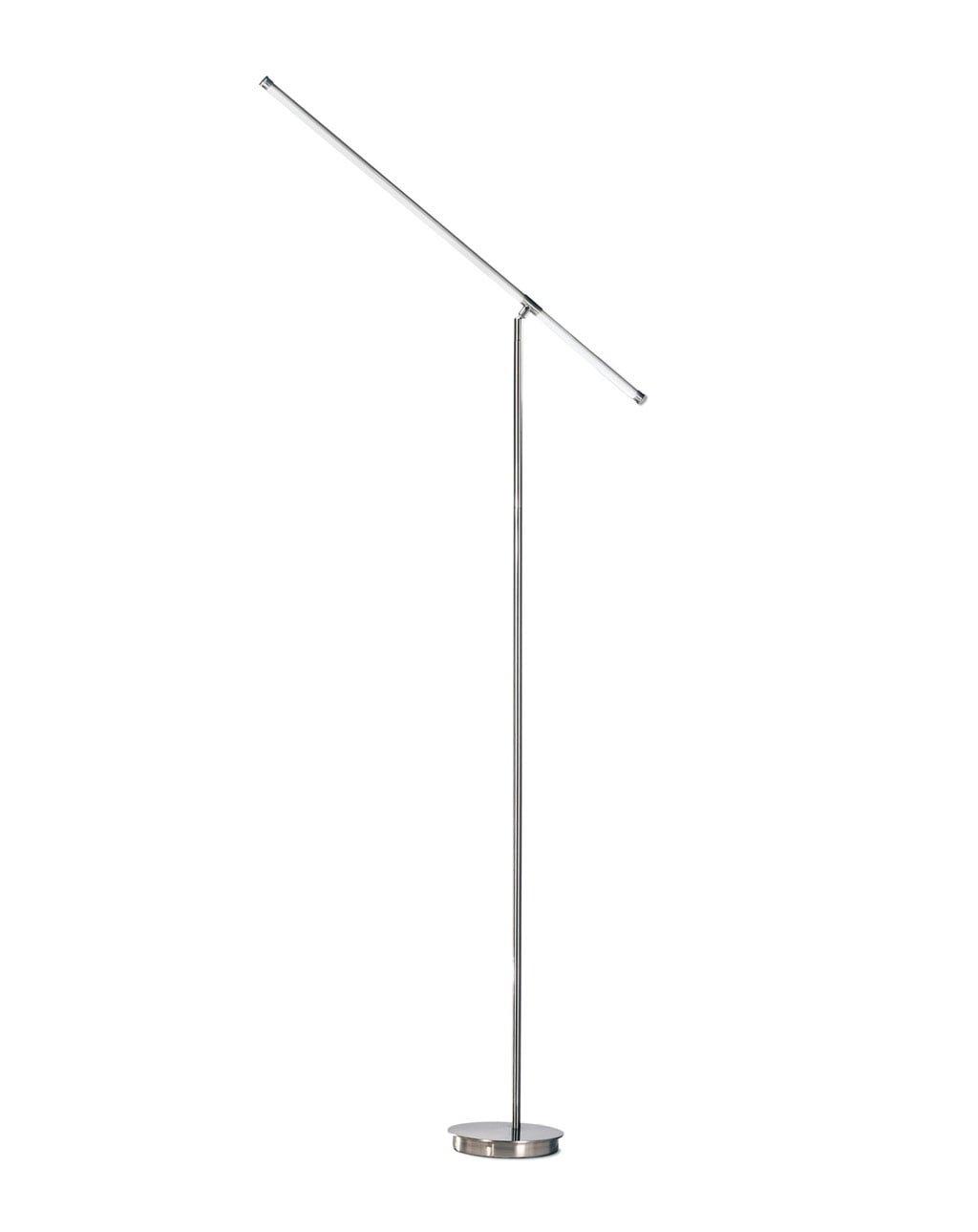 Sentry Floor Lamp, Satin Nickel