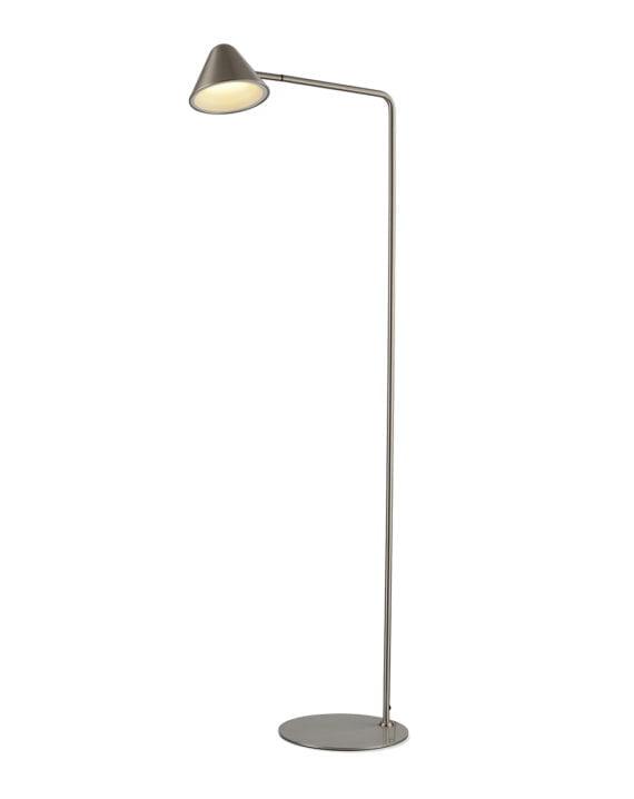 Cove Floor Lamp (Satin Nickel)