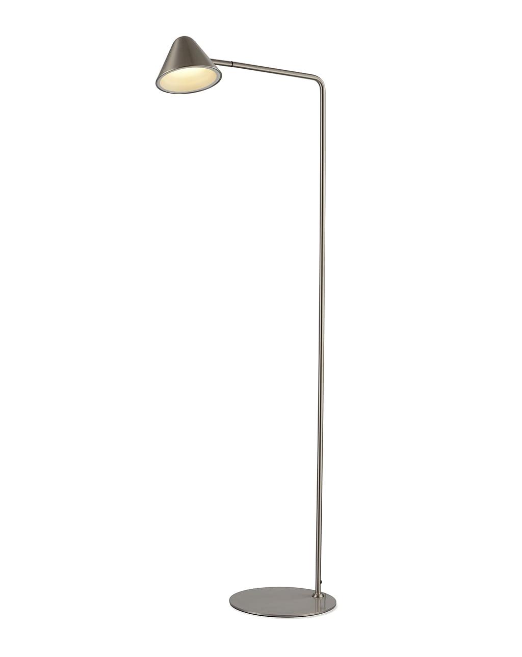 Cove Task Floor Lamp, Satin Nickel