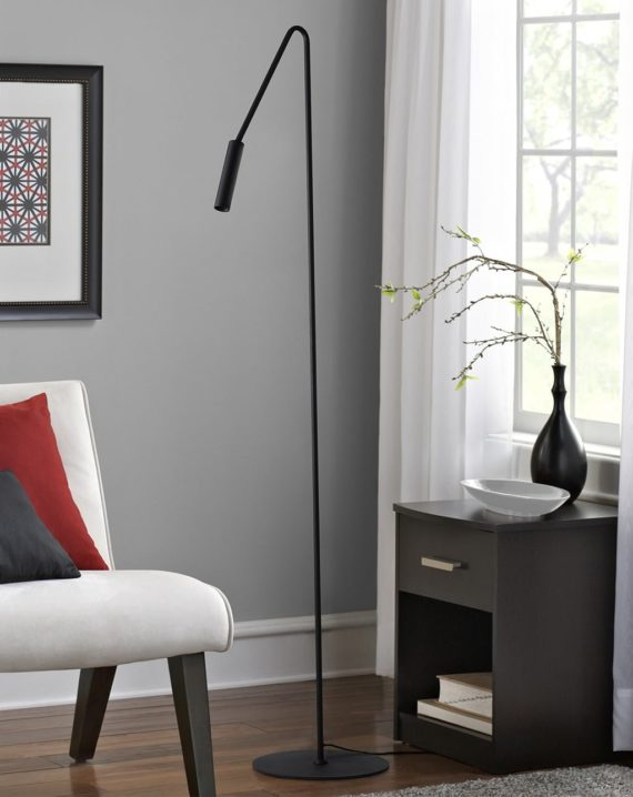 Spotlight Floor Lamp (Matte Black) Lifestyle