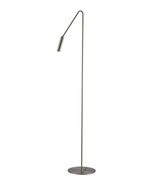 Spotlight Floor Lamp (Satin Nickel)