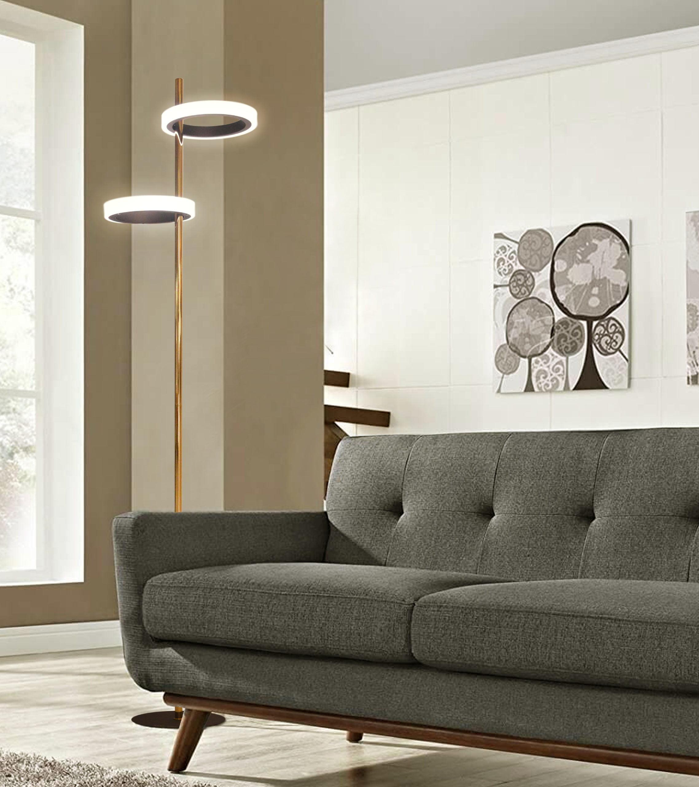 Aerial Floor Lamp, Weathered Brass