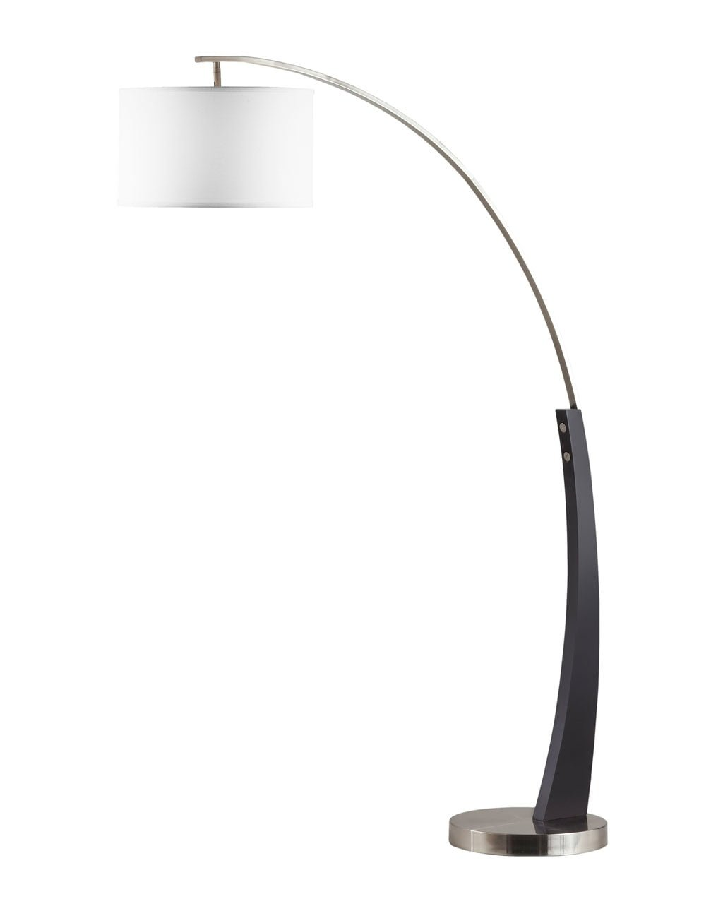 Plimpton Arc Lamp, Brushed Nickel