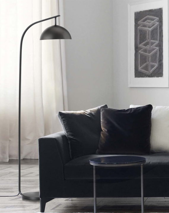 Domus Arc Floor Lamp (Gunmetal) Lifestyle