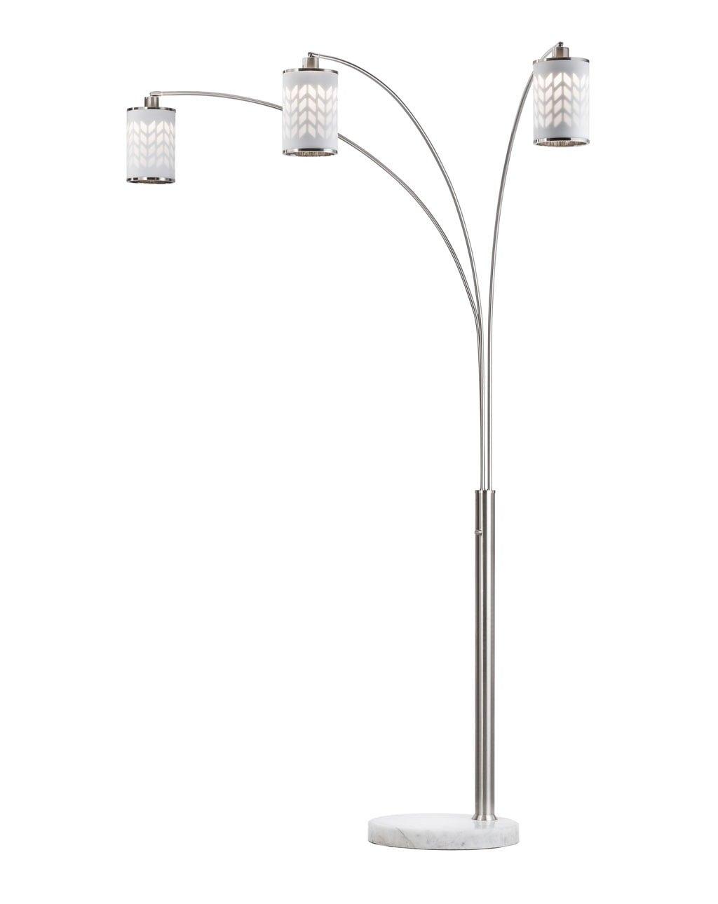 Flora 3-Light Arc Lamp, Weathered brass