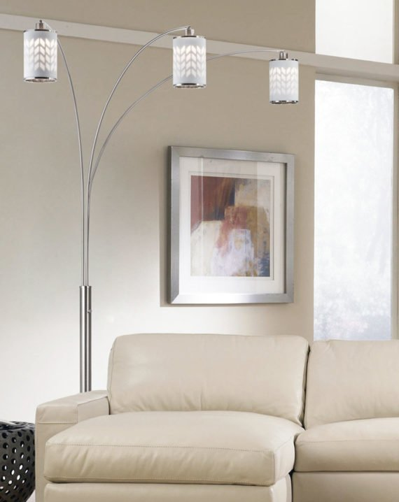 Flora 3-Light Arc Lamp Lifestyle