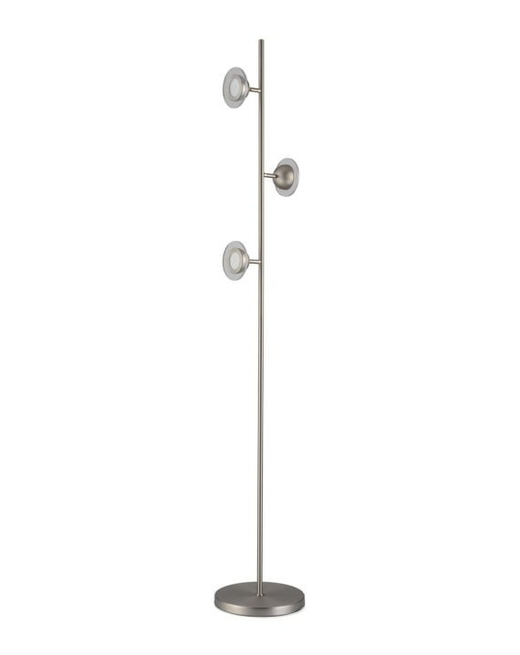 Laurel Floor Lamp (Satin Nickel)