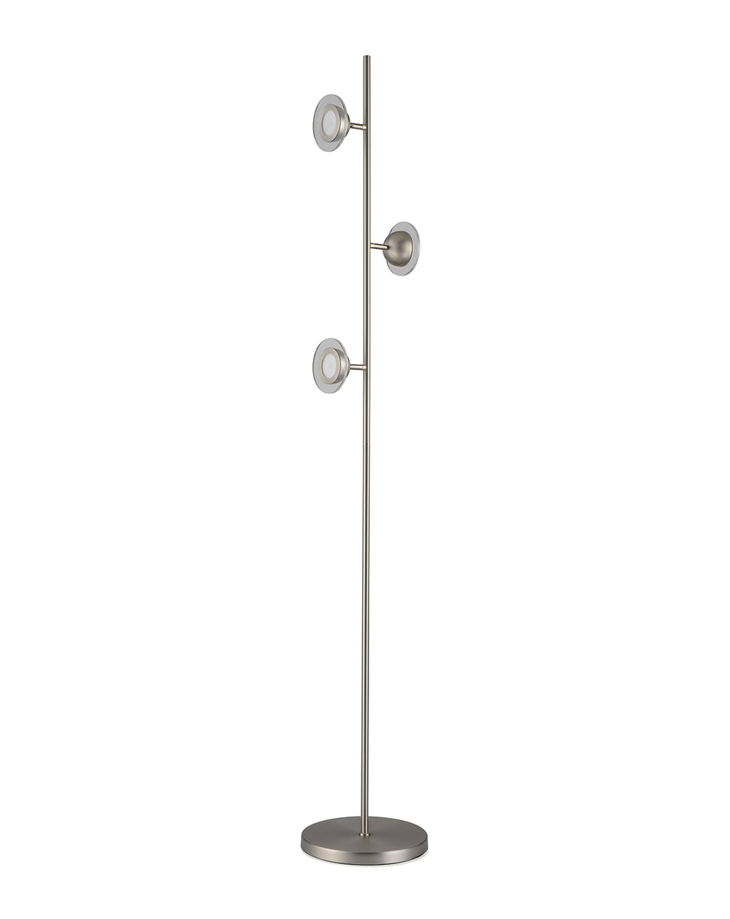 Laurel Accent Floor Lamp, Satin Nickel
