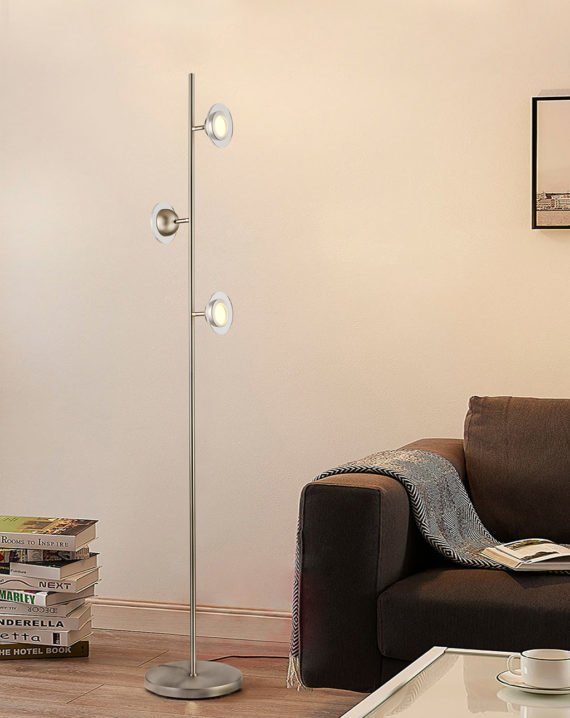 Laurel Floor Lamp (Satin Nickel) Lifestyle 02