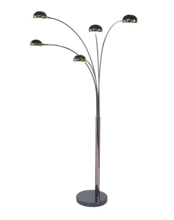 Mushroom 5-Light Arc Floor Lamp