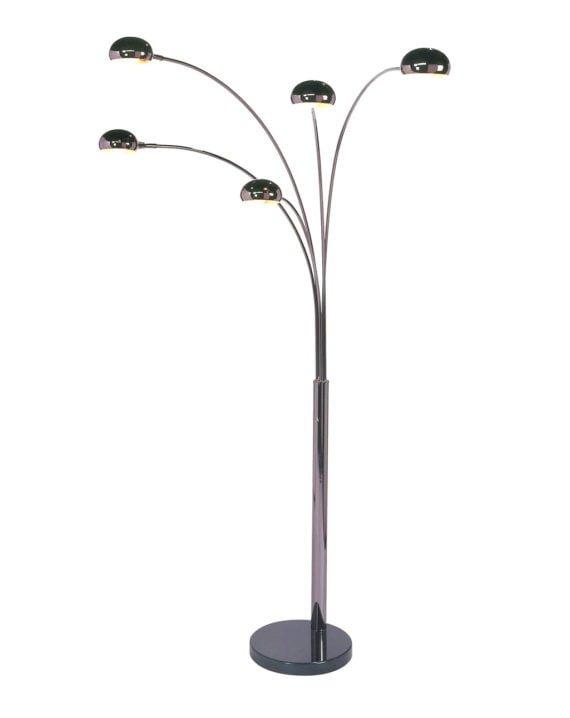 Mushroom 5-Light Arc Floor Lamp