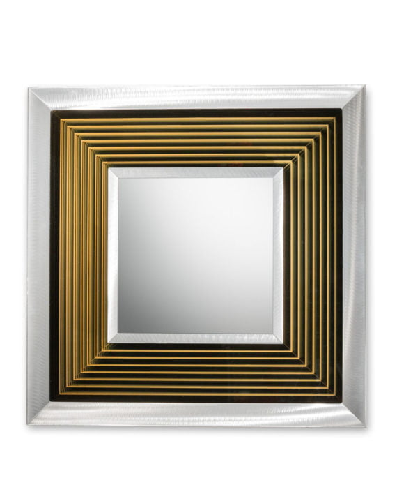 Epoch Multi-Color Infinity Mirror Square Silver