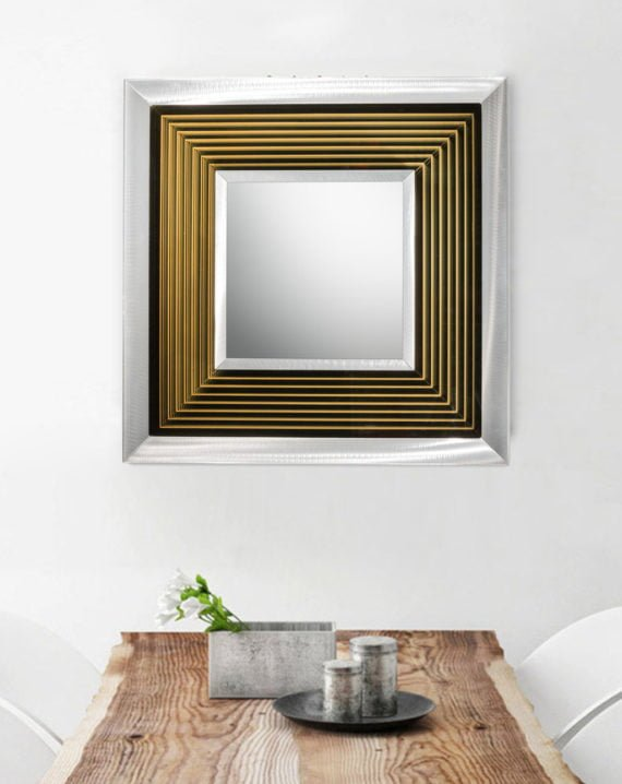 Epoch Multi-Color Infinity Mirror Square Silver Lifestyle