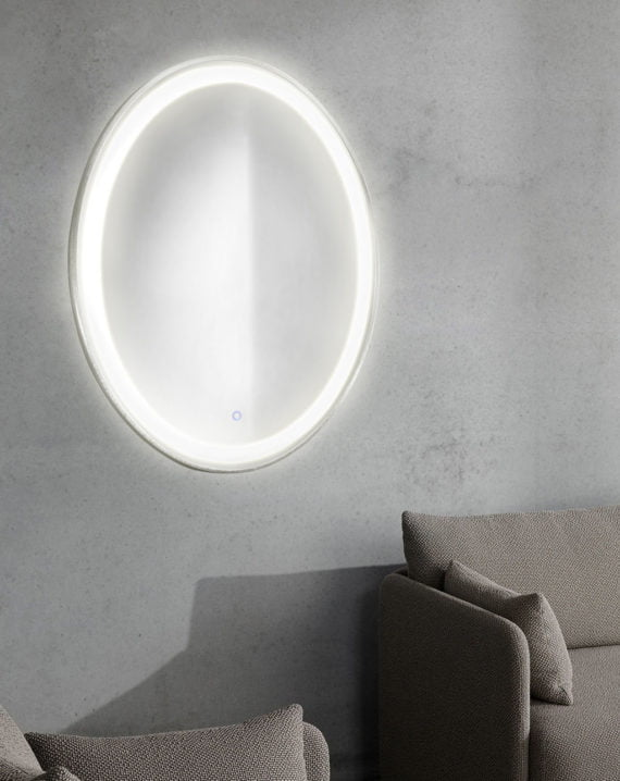 Pool Illuminated Mirror Oval Lifestyle