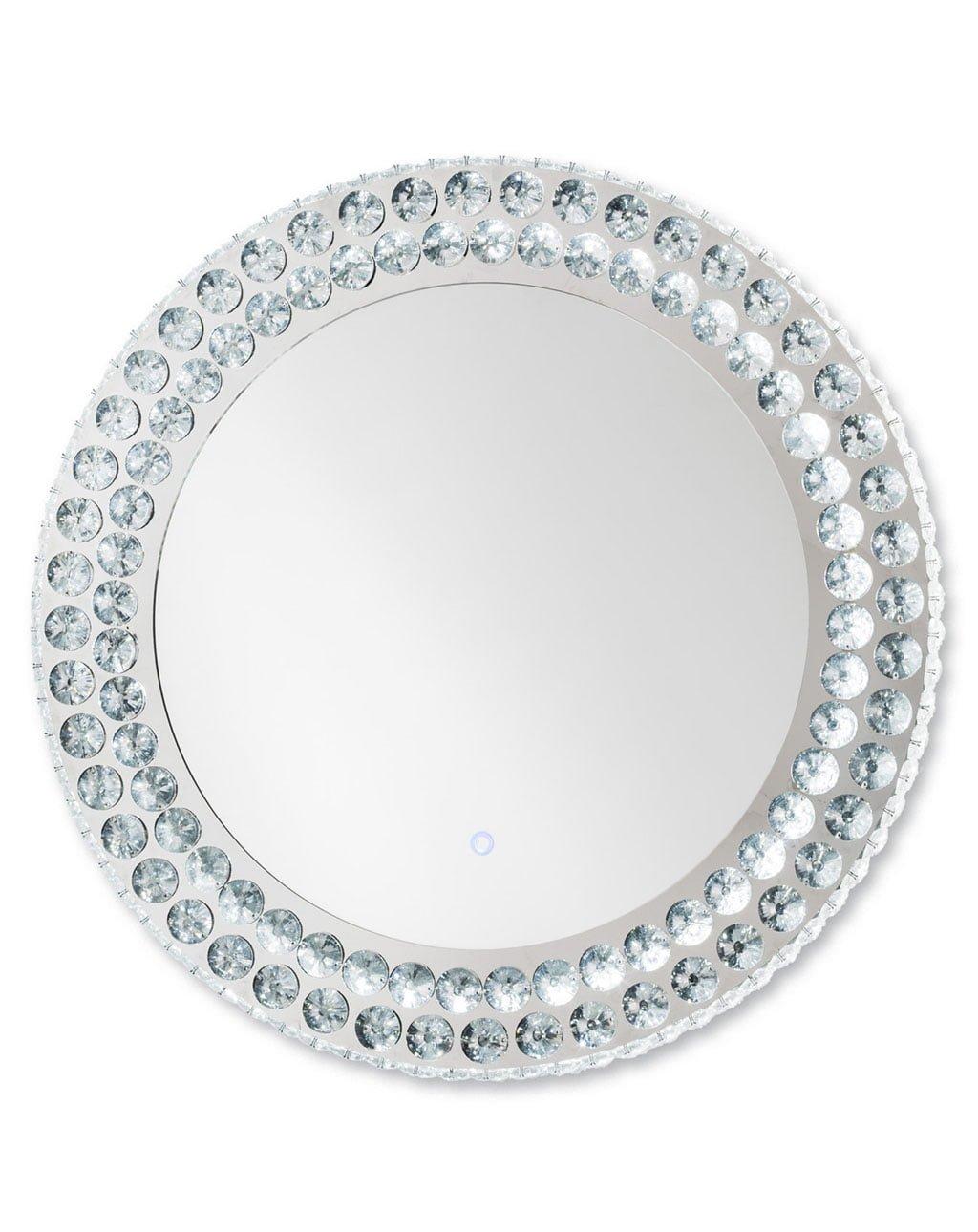Windsor Illuminated Round Wall Mirror, Chrome