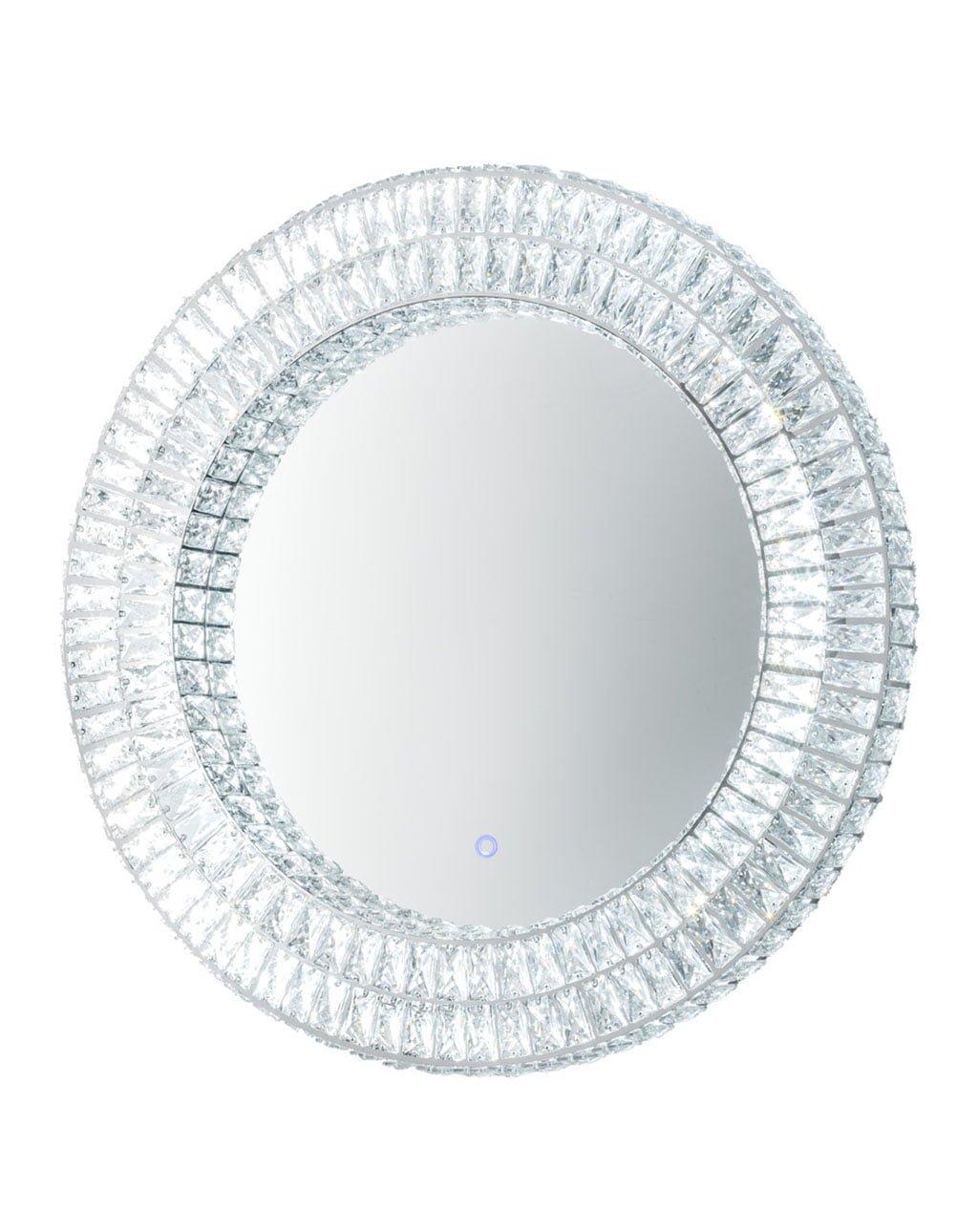 Royal Illuminated Wall Mirror, Chrome