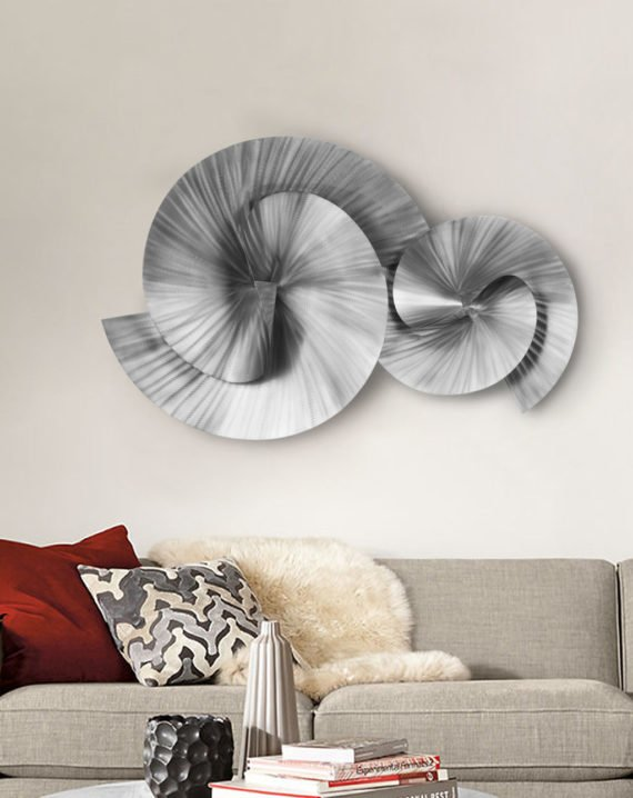 Winding Path Wall Art (Brushed Nickel) Lifestyle