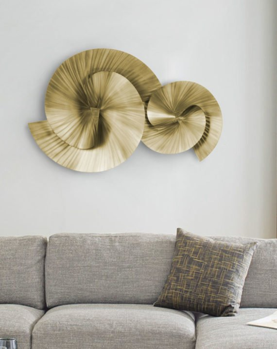 Winding Path Wall Art (Brass) Lifestyle