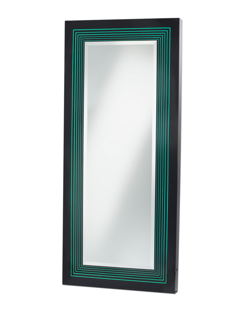 Vector Multi-Color Infinity Leaner Mirror, Glossy Black