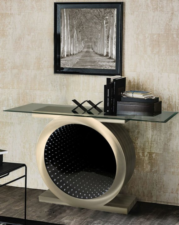 Vortex Infinity Console Table Lifestyle