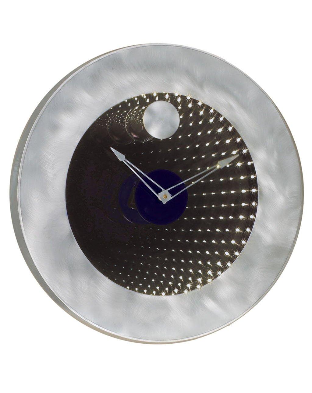 Interstellar Clock, Brushed Aluminum