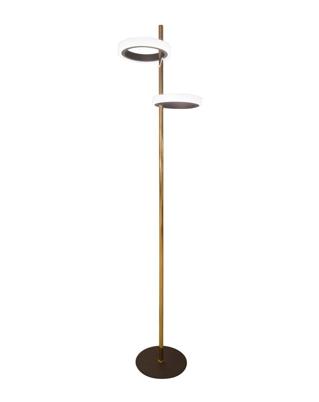 Aerial Floor Lamp Brushed Brass