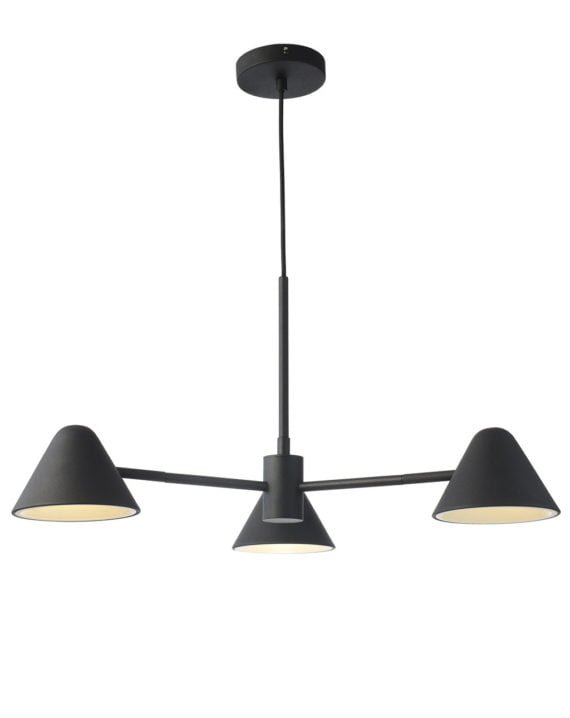 Cove 3-Light Chandelier Matte Black