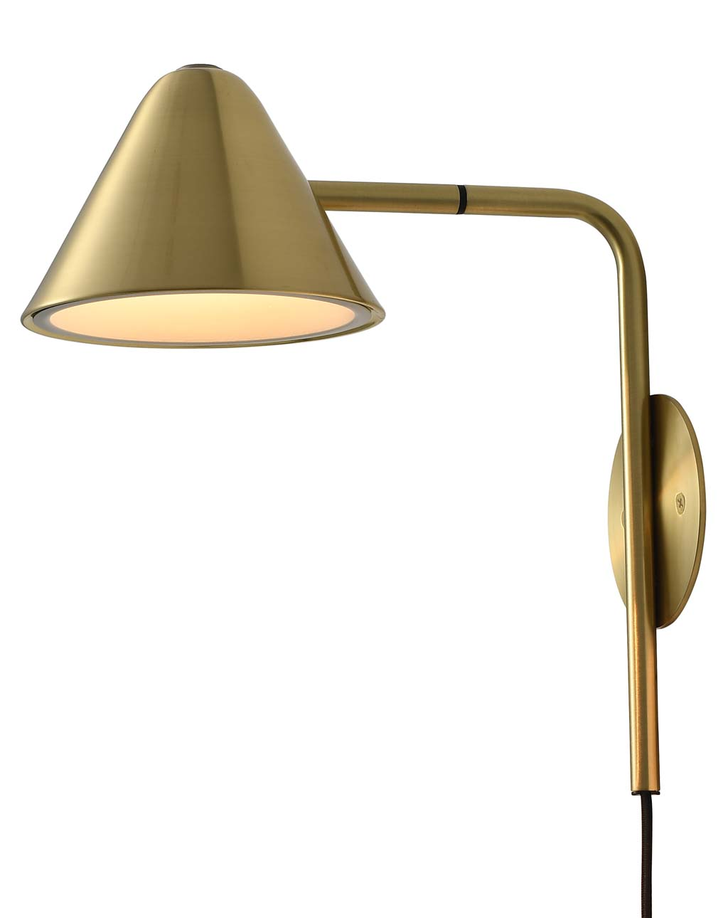 Cove Wall Sconce Brushed Brass
