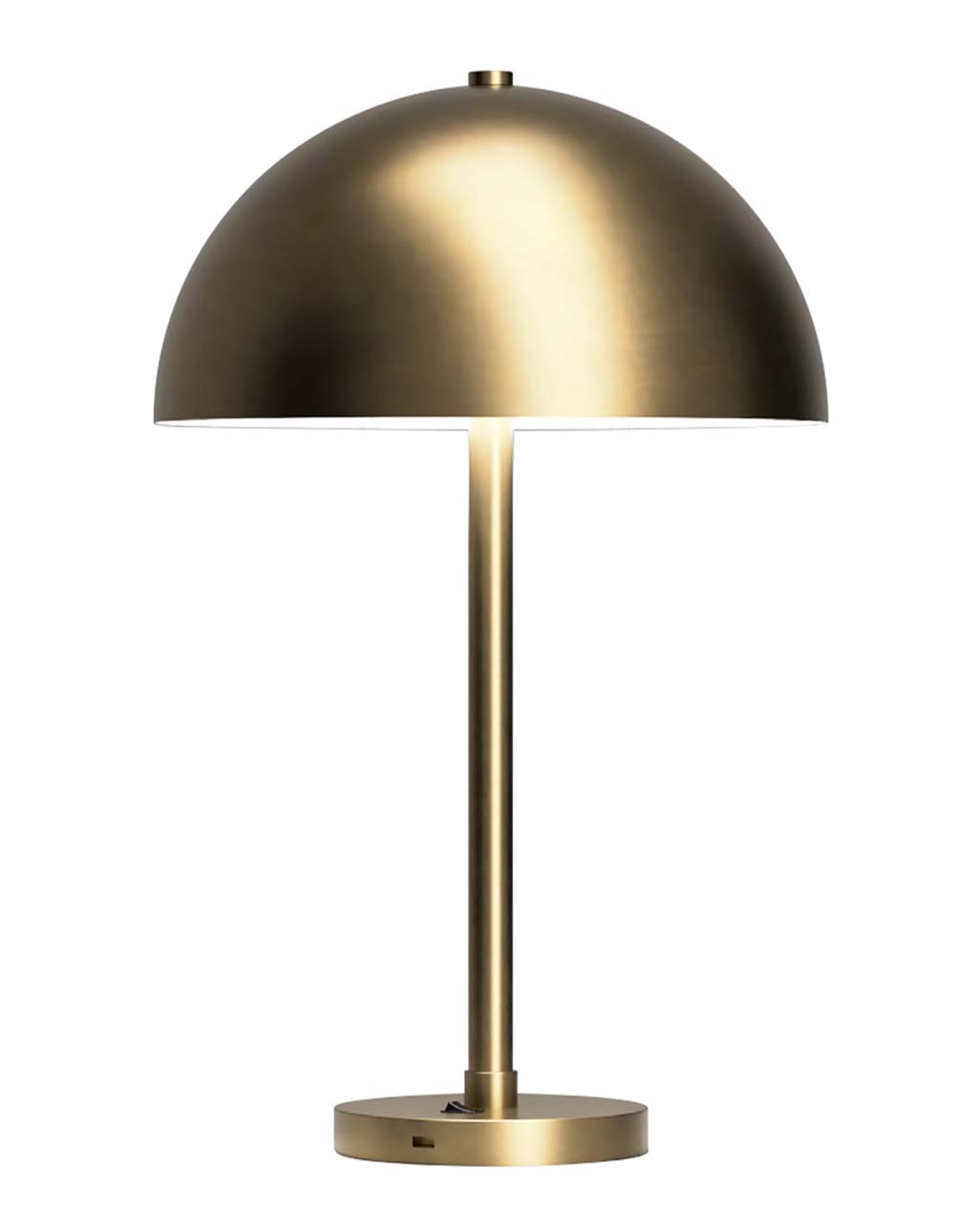 Half Dome Metal Table Lamp, Brushed Brass