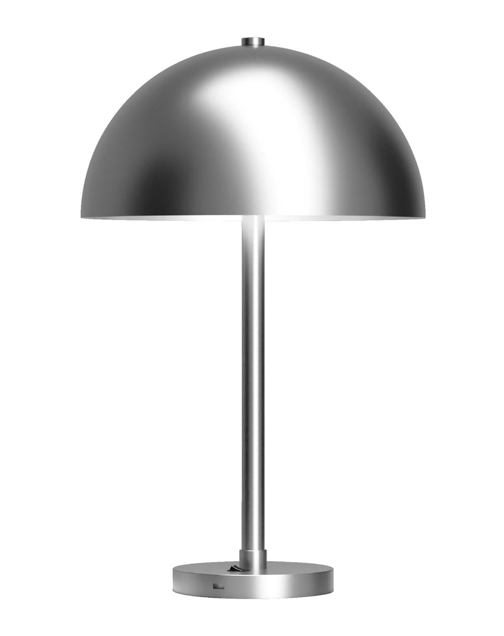 Half Dome Metal Table Lamp, Satin Nickel