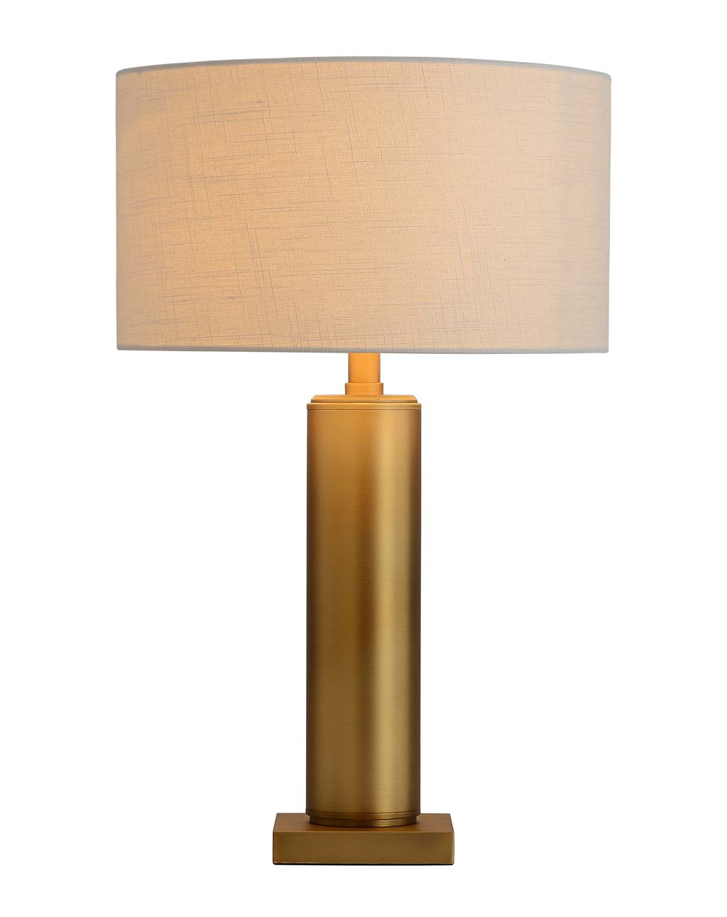 Brentwood Metal Column Table Lamp, Brushed Brass